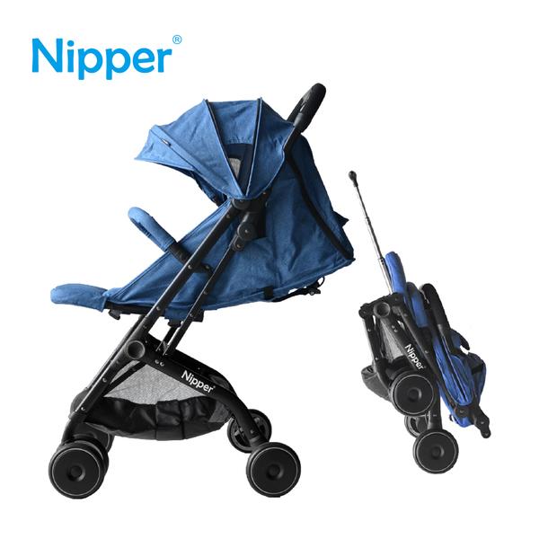 【Nipper】輕量折疊旅行推車(丹寧藍)