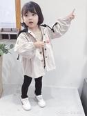 風衣外套 女童風衣新款寶寶秋裝韓版連帽外套兒童中長款上衣 童趣潮品