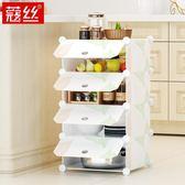 簡易碗櫃多功能組裝儲物收納櫃簡約現代櫥櫃廚房櫃餐邊櫃灶台菜櫃WY