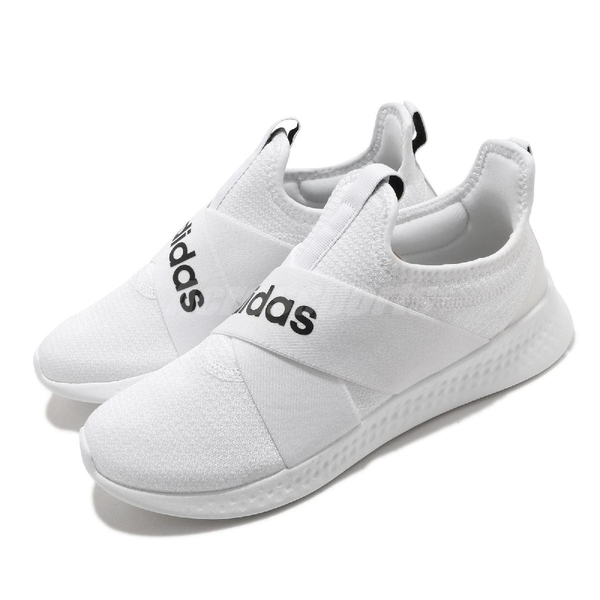 adidas 休閒鞋 Puremotion Adapt 白 黑 女鞋 無鞋帶 襪套式 運動鞋 【ACS】 FX7325