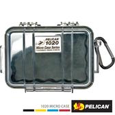 美國 PELICAN 派力肯 塘鵝 1020 Micro Case 微型防水氣密箱-透明 黑色 公司貨