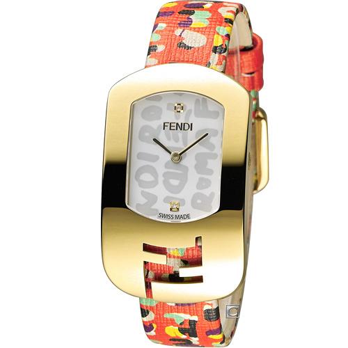 芬迪 FENDI CHAMELEON 塗鴉邂逅時尚腕錶 F302434077D1