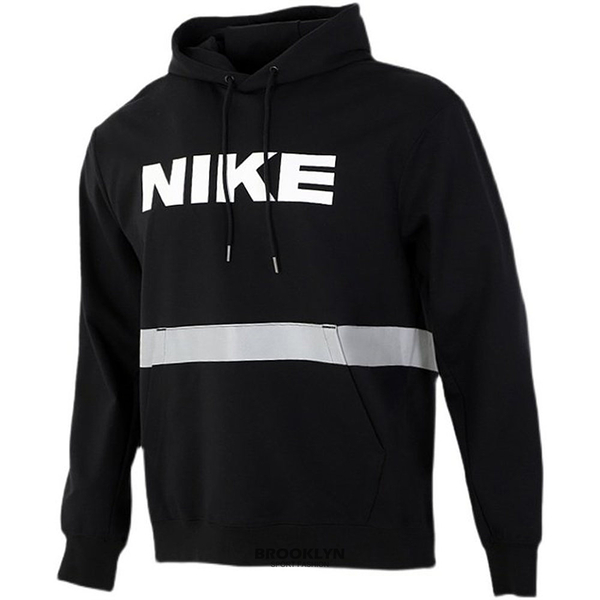 NIKE 帽T M NSW CITY MADE 黑 反光 彈性布料 口袋T 男女 (布魯克林) DB3748-010