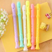 【BlueCat】果凍色迷你直笛豎笛造型中性筆 水性筆
