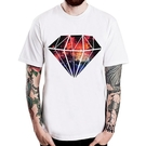 Diamond-Galaxy短袖T恤-白色 鑽石銀河系樂團音樂搖滾插畫潮流趣味藝術