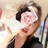 iPhone手機殼 可掛繩  韓國代購 名媛立體花朵蝴蝶結 矽膠軟殼 蘋果iPhone7/iPhone6 手機殼