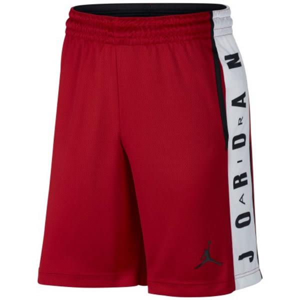 Nike Air Jordan Risegr Aphic Dri-Fit 側邊字 Logo 運動褲 紅黑 短褲 (布魯克林) 888377-687