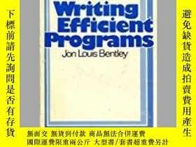 二手書博民逛書店Writing罕見Efficient ProgramsY364682 Jon Louis Bentley Pr