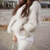 皮草毛毛外套女裝秋冬季韓版短款仿狐貍毛加厚毛茸茸時尚-BB奇趣屋