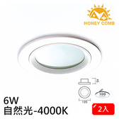 HONEY COMB 一般家用型LED 6W 崁燈 2入一組TK5008-4 自然光