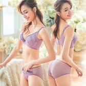 內衣 LaBome A50052 花之舞 立體罩杯蕾絲內衣。紫色BC罩