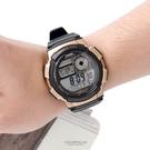 CASIO卡西歐 黑金世界時間運動膠錶 防水100米 有保固 柒彩年代【NEC79】原廠公司貨
