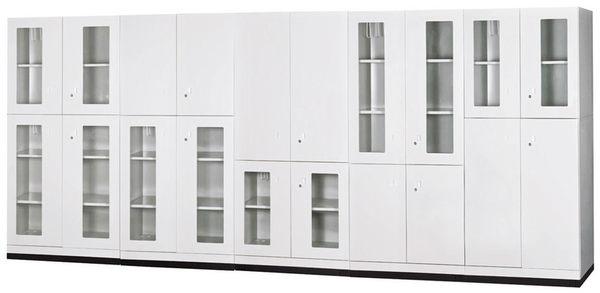 【 IS空間美學】玻璃雙開門下置式鋼製公文櫃
