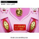 晴日小舖 gold 黃金 彌月禮盒 金飾 保證卡 重量0.20錢 [ gg 003 ]