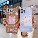 可愛熊Galaxy S21 Ultra手機套 情侶三星note20手機殼 三星S20/S10/S9/S8 Plus保護殼 SamSung N10/N9/N8保護套
