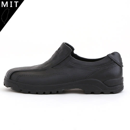 男女款 素面皮紋一體成型 防水防滑 雨鞋 雨天休閒皮鞋 工作鞋 MIT製造 59鞋廊