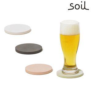Soil 日本原裝珪藻土杯墊組 圓型四入綠色組