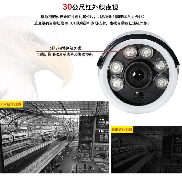 Saqicam 4路AHD超清1080P主機錄影DVR 監視器 1080P*2監控攝影機套餐 升級版室外防水 APP操控