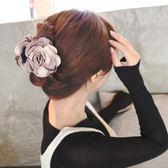 頭花抓夾韓國髮飾髮夾髮卡大號盤髮器髮抓夾丸子頭馬尾夾頂夾頭飾
