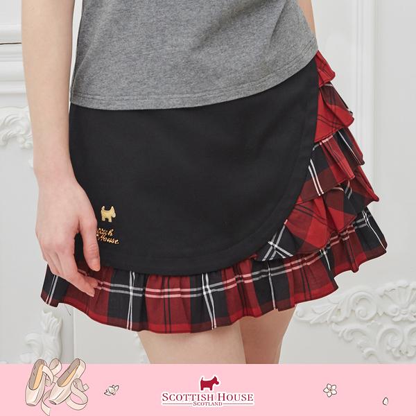 紅黑格 格紋 蛋糕裙 短裙 Scottish House 【AM2125】