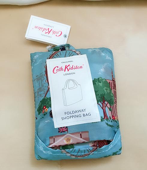 *禎的家* 英國名牌 Cath Kidston  手提購物袋 ~ 倫敦風景 可摺疊收納