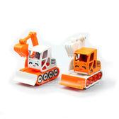 HY TRUCK 華一204 挖掘機Q 版回力合金車模型車迴力車巴布工程車兩色~楚崴玩具~