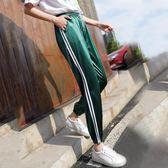 運動褲子少女夏hiphop嘻哈女生帥氣休閒寬鬆燈籠褲 糖果時尚