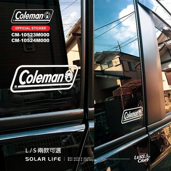Coleman 原廠貼紙/CM-10523-L.汽車貼紙 露營品牌貼 Logo貼紙 汽化燈貼紙 抗UV車貼