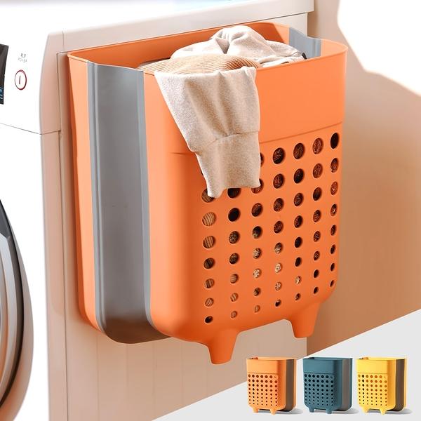 Mr.box【006001-01】莫蘭迪3色可折疊免打孔髒衣籃 3入