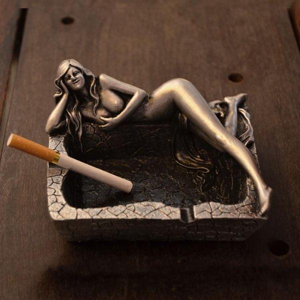 中國風創意復古長腿美女煙灰缸「巴黎街頭」