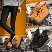 粗跟短靴-秋冬復古手工擦色女馬丁靴2色73is13【時尚巴黎】