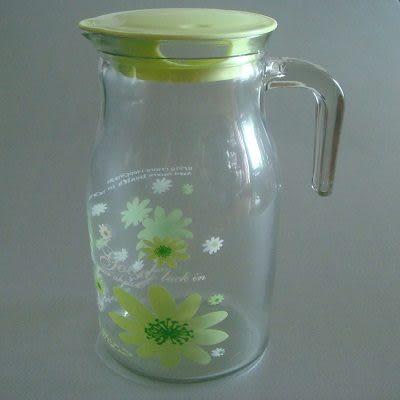 紫丁香冷水壺(1400ml-粉綠色)/玻璃瓶/器皿/安全材質.使用方便.美觀大方