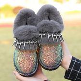 低筒雪靴-時尚個性舒適保暖女鞋子2色73kg71[巴黎精品]