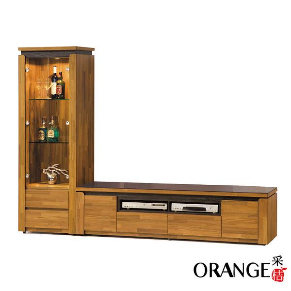 【采桔家居】西瓦 時尚9.1尺木紋玻璃電視櫃/展示櫃組合(展示櫃+電視櫃)