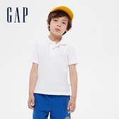 Gap男童 簡約風格純色POLO領短袖 539257-白色