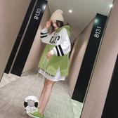 連帽衛衣女套頭薄款慵懶風寬鬆網紅外套超火百搭2019秋季新款