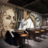 歐式復古個性石膏雕塑壁畫酒吧咖啡店ktv壁紙餐廳酒店理發店墻紙