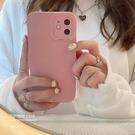 豆沙粉適用iphone13promax蘋果12手機殼11新款xr女x純色8plus簡約