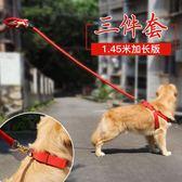 狗狗牽引繩泰迪金毛狗鍊子狗項圈大型犬遛狗繩子胸背帶中型犬用品  晴光小語