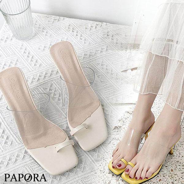 PAPORA性感指套高跟拖鞋涼鞋KK268