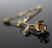 立體小玫瑰花朵西裝別針 一字男士領針配飾