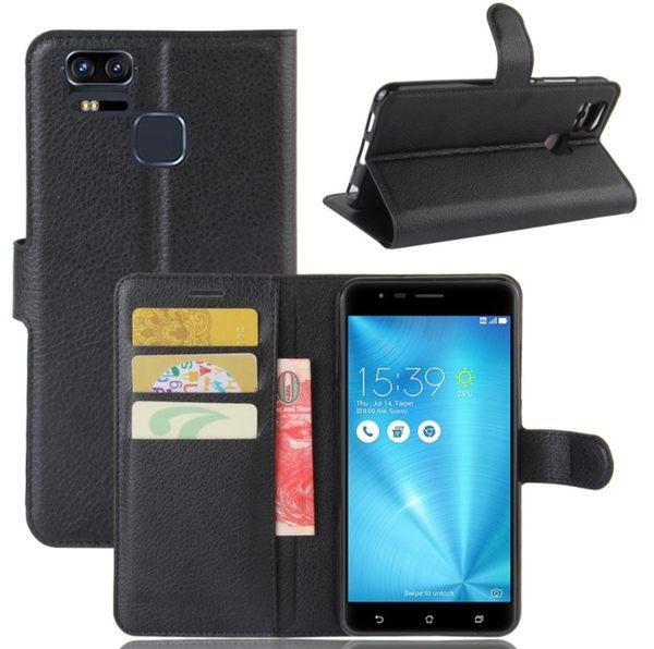 [24hr-現貨快出] 華碩 Zenfone 3 Zoom 手機殼 手機套 荔枝紋 錢包 保護皮套