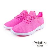 【Pelutini】donna超透氣綁帶輕量時尚慢跑鞋  粉紅(8376W-PIN)