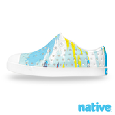 native 大童鞋 JEFFERSON 小奶油頭鞋-潑彩藍