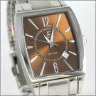 【萬年鐘錶】SIGMA日系 茶色經典時尚男錶 8801M-8