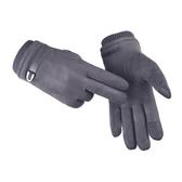 暖手手套冬天保暖手套男士加厚加絨觸屏寬鬆仿麂皮絨男冬季防寒騎行電動車 春季新品