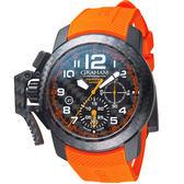 GRAHAM格林漢Superlight Carbon腕錶 2CCBK.O01A.K127K 橘