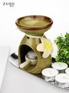 帶蠟燭托陶瓷香薰爐熏香爐用蠟燭香薰燈精油爐瑜伽居室 京都3C