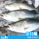 【台北魚市】 金目鱸 520g±10%