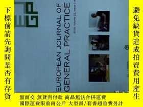 二手書博民逛書店EUROPEAN罕見JOURNAL OF GENERAL PRACYICE (EJGP ) 1-4 2016Y